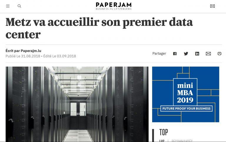 capture d'écran de l'article paper jam